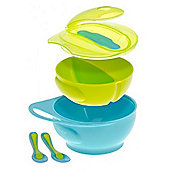 Brother Max Easy-Hold Weaning Bowl Set (Blue/Green)