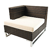 Cozy Bay Manhattan Chair with Right Armrest in Rattan Weave