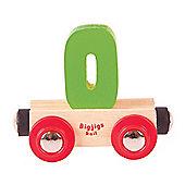 Bigjigs Rail Rail Name Number 0 (Green)