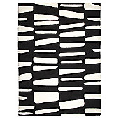 Dashes Rug 160 x 230cm, Black