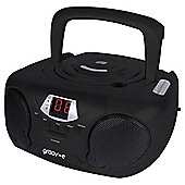 Groov-E Boombox Portable CD Player with AM/FM Radio Black