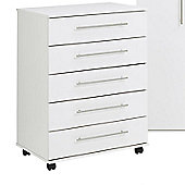 Ideal Furniture Bobby 5 Drawer Chest - White