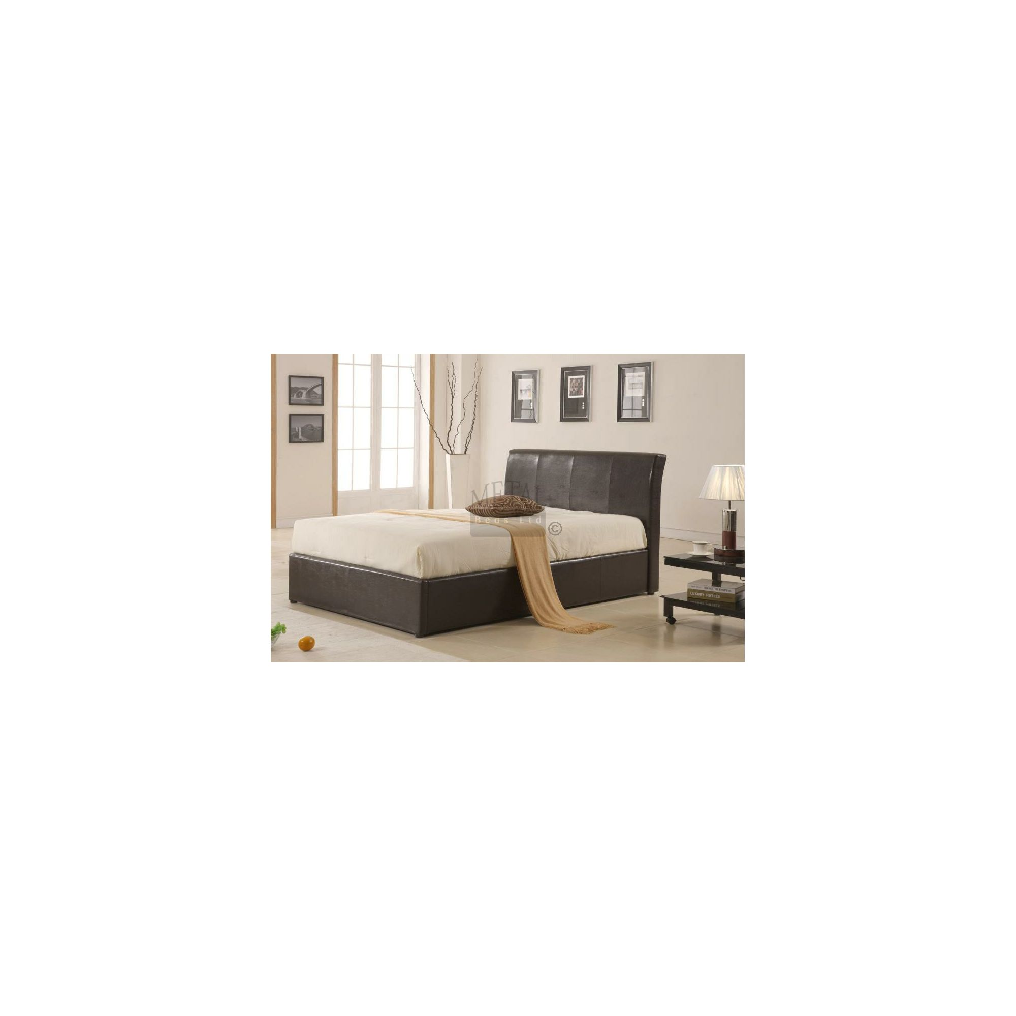 MetalBedsLtd Texas New Ottoman Bed - Single - Brown at Tesco Direct