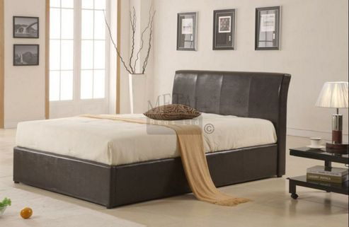 MetalBedsLtd Texas New Ottoman Bed Frame - Single (3') - Brown