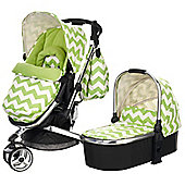 Obaby Chase 3 in 1 Stroller and Carrycot - ZigZag Lime