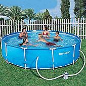 Bestway 12 ft Steel Pro Frame Pool with 330 Gal Pump