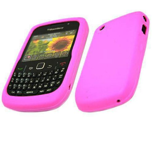 iTalkOnline SoftSkin Silicone Case - BlackBerry 8520 Curve, 9300 3G (Pink)