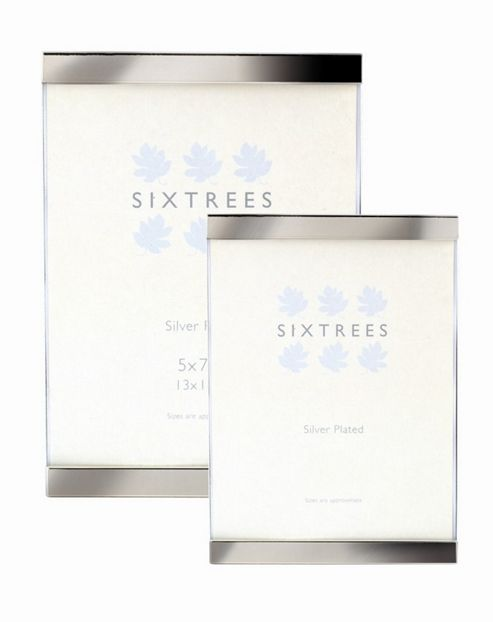 Sixtrees Vienna Top and Bottom Photo Frame - 17.5cm H x 13.5cm W x 5cm D