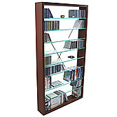 CD / DVD / Blu-ray / Media Glass Storage Shelves - Dark Oak