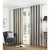 Fusion Melrose Stripe Charcoal 66x72 Eyelet Lined Curtain