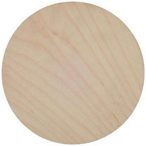Birch Plaque 125mm dia 4mm thick plywood Pack of 3