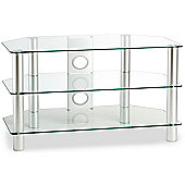 ValuFurniture Classik 1050 Clear Glass TV Stand
