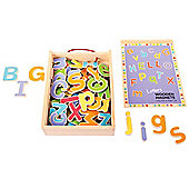 Bigjigs Toys BJ719 Wooden Magnetic Letters