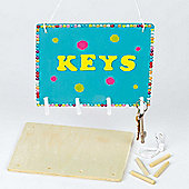 Wooden Craft Key Holders (Pack of 4)