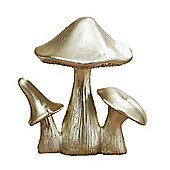 Triple Golden Mushroom Christmas Ornament Style B