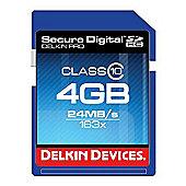 Delkin DDSDPRO3-4GB SD Pro Memory Card SDHC 163x
