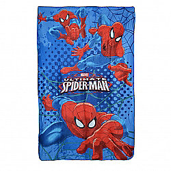 Marvel the Ultimate Spiderman 'Stikes' Panel Fleece Blanket