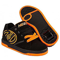 Heelys Propel 2.0 Black/Orange Kids Heely Shoe - UK 3