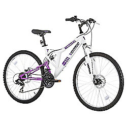 "Vertigo Monteaux 26"" Dual Suspension Mountain Bike, White"