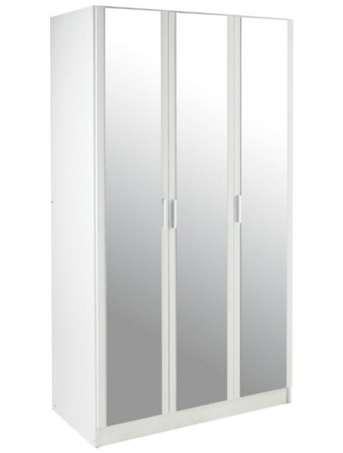 Kit Form Bella 3 Door Mirrored Wardrobe - White