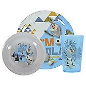 Disney Frozen Olaf Melamine Dinner Set, 3-Piece