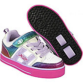 Heelys Bolt Plus White/Rainbow/Pink Kids Heely X2 Shoe - White