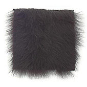 Fur Fabric Shiny Black