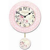 Roger Lascelles Clocks Rose Pendulum Wall Clock