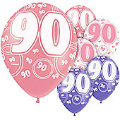 90th 12' Latex Balloons (6pk)