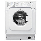 Indesit IWME127, Built-in Washing Machine, 7Kg Wash Load, 1200 Rpm Spin, A+ Energy Rating, White