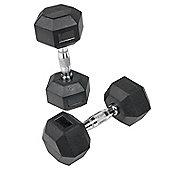 Body Power 12.5-20Kg Rubber Hex Dumbbell Set