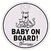 Dreambaby Round Baby On Board Sign Tigers