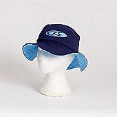 Koolsun Boys Blue Hibiscus Bucket Sun Hat - Small (6mths-4yrs)
