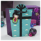 Tesco China Girl Christmas Gift Bag, Medium