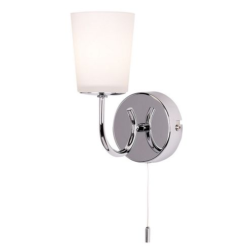 Endon Lighting Cone Wall Light in Polished Chrome