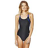 Speedo Endurance®10 Contrast Logo Muscle Back Swimsuit - Dark grey