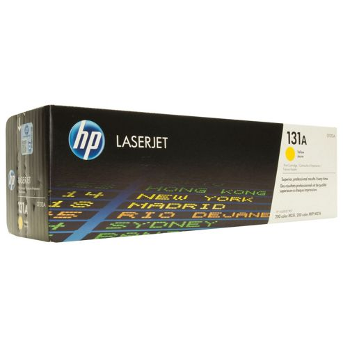 HP 131A Yellow Toner Cartridge (Yield 1800 Pages) for LaserJet Pro 200 M276n/M276nw Multifunction Printers