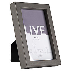 "Tesco Basic Photo Frame Grey 4 x 6"""