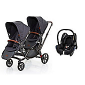 ABC Design Zoom Tandem Stroller/Maxi Cosi Travel System - Street (2016)