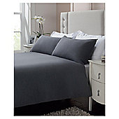 Tesco Plain Jersey Duvet Set Kingsize Shadow