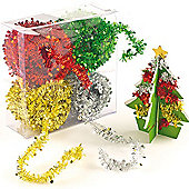 Mini Tinsel Garlands for Children to Create Christmas Decorations (Pack of 4)