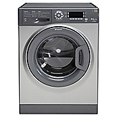 Hotpoint WDUD9640G Washer Dryer, 9kg Load, 1400 RPM Spin, A Energy Rating, Graphite