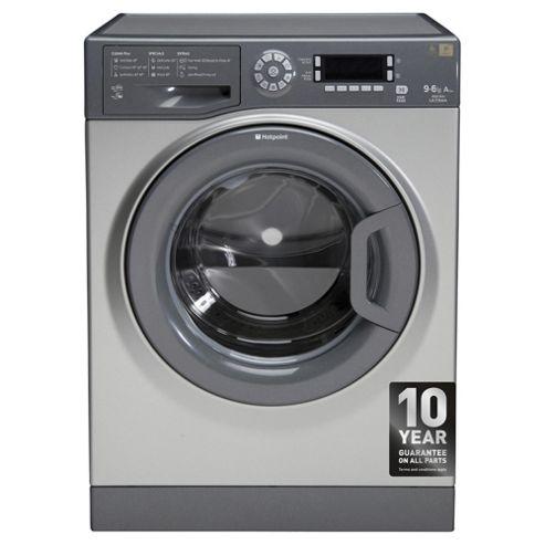 Hotpoint Ultima Washer Dryer, WDUD9640G, 9KG Load, Graphite