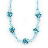 Children's Blue 'Heart' Necklace - 36cm Length/ 4cm Extension