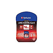 Verbatim 16GB Secure Digital UHS-I SDHC Card - Class 10