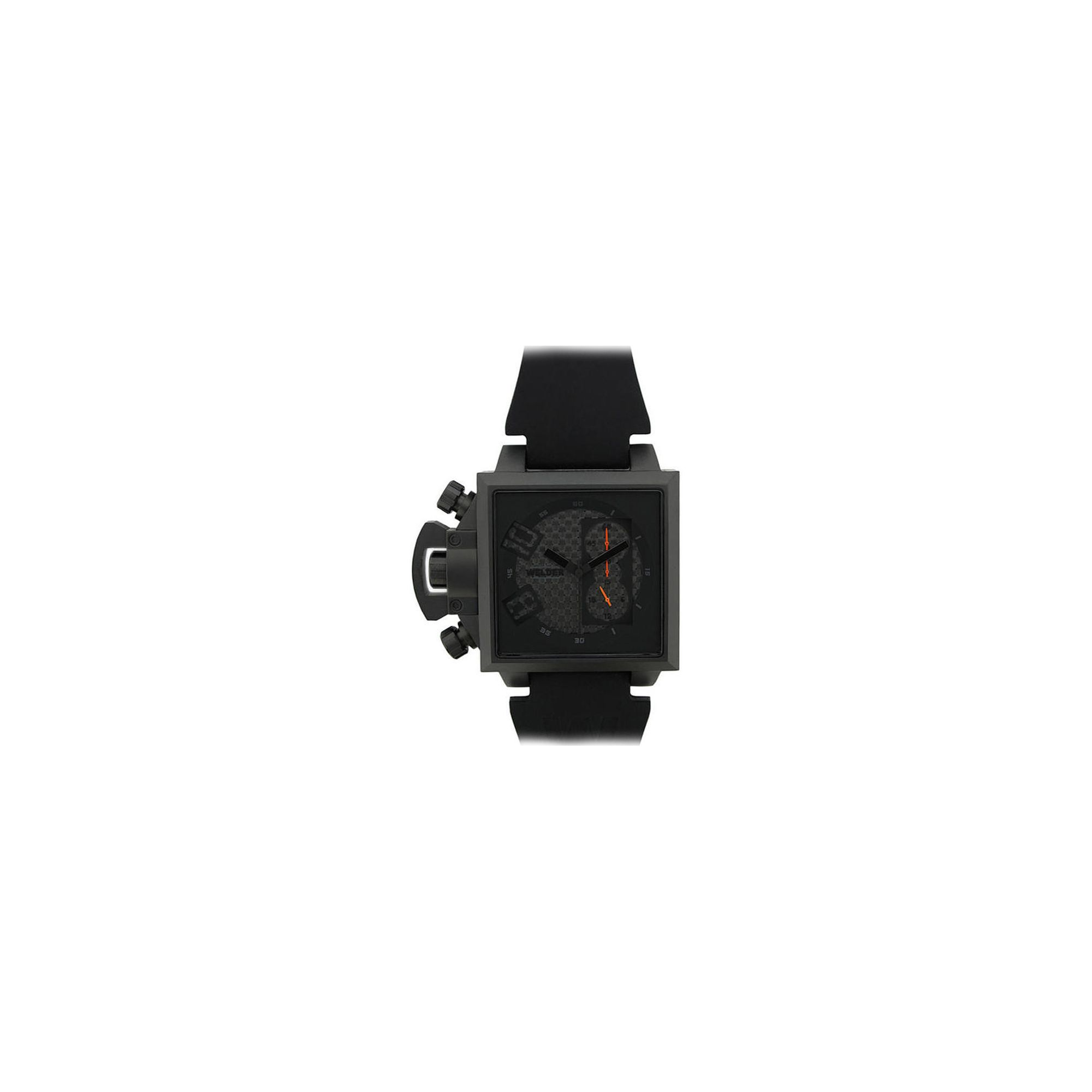 Welder Gents Black Dial Black Rubber Strap Watch K25-4704 at Tesco Direct