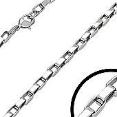 Urban Male Men's 20in Stainless Steel Rounded Box Link Chain