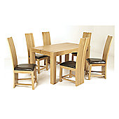 Elements Eton 7 Piece Oak Dining Collection