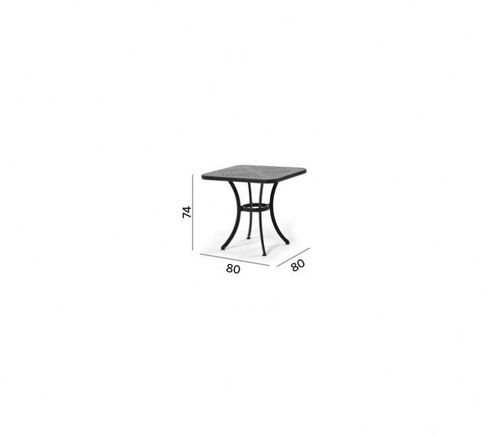 Varaschin Joker Outdoor Table with Bored Top by Varaschin R and D - Silver