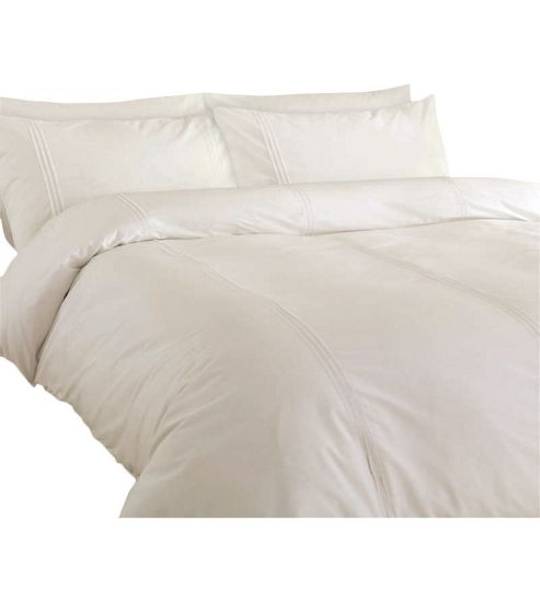 buy minimalist cream duvet cover set from our double duvet. Black Bedroom Furniture Sets. Home Design Ideas
